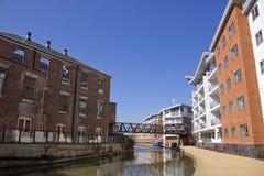 Wolverton grand milton Keynes R-U de canal des syndicats Image stock