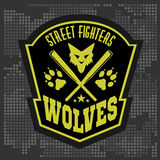 Wolves - military label, badges and design Royalty Free Stock Image