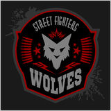 Wolves - military label, badges and design Stock Photography