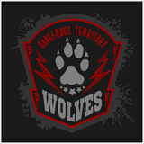 Wolves - military label, badges and design Stock Photos
