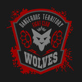 Wolves - military label, badges and design Royalty Free Stock Photo