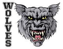 Wolves Sports Mascot Stock Photo