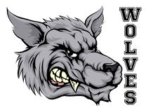 Wolves Sports Mascot Royalty Free Stock Images
