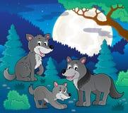 Wolves theme image 2 Royalty Free Stock Image