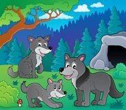 Wolves theme image 1 Stock Images