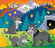 Wolves theme image 3 Stock Photos
