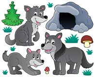 Wolves theme set 1. Eps10 vector illustration Stock Photo