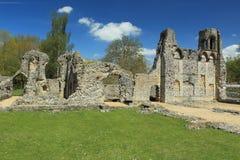Wolvesey城堡废墟 库存照片