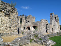 Wolvesey Castle. In Winchester dates from 1110 and now a ruin, was the Norman palace of the Bishop of Winchester. It was destroyed by Roundheads in the English Royalty Free Stock Photo