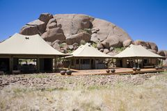 Luxuri safari camp, Namibia, Africa royalty free stock photos