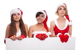 Wom концепции 3 людей, рекламы и продажи рождества счастливое Стоковое Изображение RF