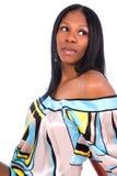 Wom dell'afroamericano di Georgeous Fotografie Stock Libere da Diritti