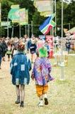 Womad节日的十几岁的女孩 免版税库存图片