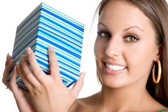 Womam Holding Gift Royalty Free Stock Images