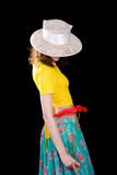 Womam in the yellow blouse Royalty Free Stock Image