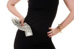 Woman's hand holding dollars Royalty Free Stock Photography