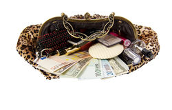 Woman�s handbag concept Royalty Free Stock Images