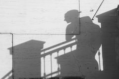 WomanÂs Schatten Stockfotografie