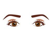 Woman& x27; взгляд s с кафами глаз выразительными Стоковые Изображения RF