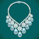 Woman& x27; ожерелье s с драгоценными камнями Стоковое Фото