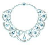 Woman& x27; ожерелье s с драгоценными камнями Стоковые Фото