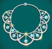Woman& x27; ожерелье s с драгоценными камнями Стоковое Изображение