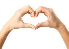 Woman& x27; руки s делая сердце Стоковое Изображение RF