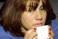 Woman 1. Young Woman With a Coffee Mug Stock Image
