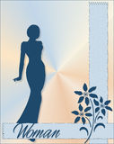 Woman. An illustration of the silhouette of a woman vector illustration