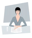 Woman. Business woman working Stock Photo