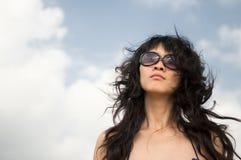 Woman. Beach sunbathing woman, laid-back holiday Royalty Free Stock Photos