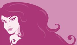 Woman 12. The beautiful woman in pink colour Stock Illustration