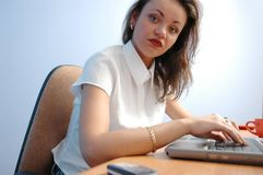 Woman. In office Stock Photography