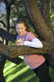 The woman. Pregnant woman costs near a tree Stock Images