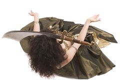 Woman. Belly dancer doing her thing Royalty Free Stock Images