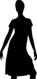 Woman. A illustration of a woman's silhouette vector illustration