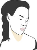 Woman. A illustration of a woman's face royalty free illustration