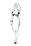 Woman. Sketch of woman for fashion industries Stock Photo