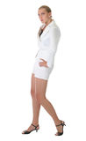 Woman. Young woman in white outfit Stock Photo