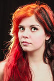 Woman. Yound beautiful redhead colored woman portrait Royalty Free Stock Image