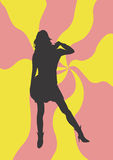 Woman. A illustration of a woman's silhouette royalty free illustration