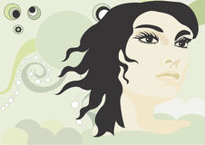Woman. A illustration of a woman's face stock illustration