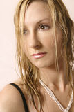 Woman. With wet hair stock photos