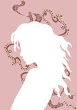 Woman. A illustration of a female silhouette vector illustration