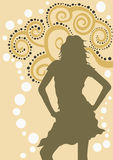 Woman. A illustration of a female silhouette royalty free illustration