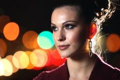 Woman. Beautiful young woman at night Royalty Free Stock Photo