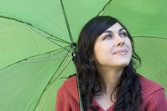 Woman. Umbrella Woman Stock Photo