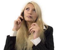 Woman_8. The business woman Stock Images