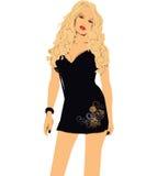 Woman. Beautiful woman in black dress Royalty Free Stock Image