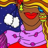 Woman abstract Christmas Stock Photo